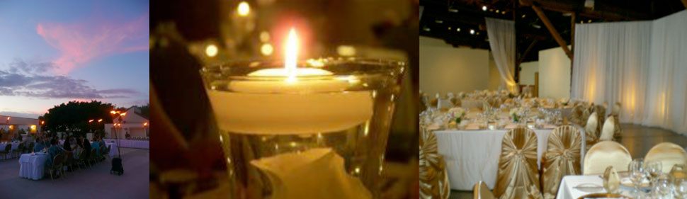 Celebrate your wedding with a candlelit dinner, beautiful romantic atmosphere